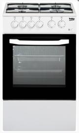 Плита газо-электрическая с крышкой BEKO CSS 42014 FW