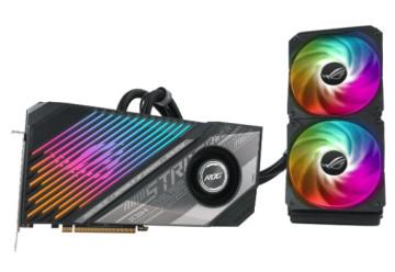 Видеокарта ASUS ATi Radeon RX 6900XT ROG GDDR6 16384Mb 256-bit. (ROG-STRIX-LC-RX6900XT-T16G-GAMIN)