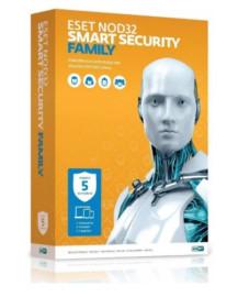 Антивирус NOD32 Smart Security Family - коробка на 3 устройства на 1 год