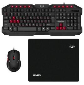 Игровой комплект SVEN GS-9200 (клавиатура, мышка, коврик для мыши)