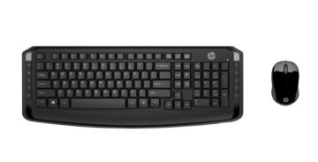 Комплект беспроводной клавиатура+мышь HP 300 Wireless Black (3ML04AA)