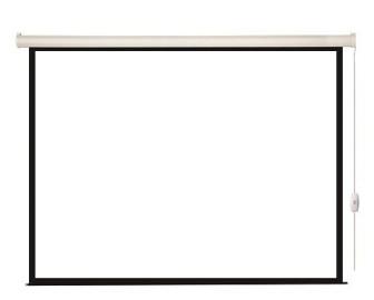 Экран с электроприводом 203x203 Lumien Eco Control (раб. область 197х197 см) Matte White черная кайма по периметру 1:1