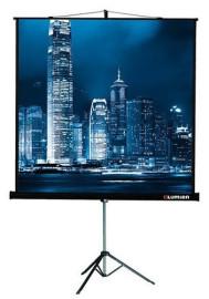 Экран проекционный 180x180 Lumien Master View на треноге, черная кайма по периметру, устойчивый штатив