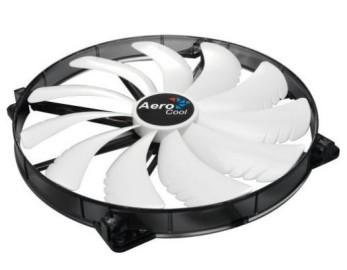 Вентилятор 200x200x25 Aerocool Silent Master White LED, 3-pin (AEROSM-20WL)