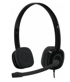 Наушники с микрофоном Logitech H151 Headset Stereo Black 981-000589