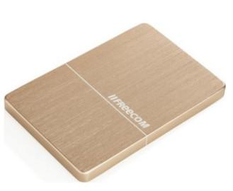 """Внешний жёсткий диск 1000GB Freecom 2, 5"""" (mHDD Mobile Drive Metal slim Gold) USB 3.0"""