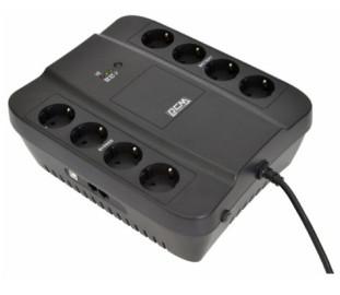 ИБП Powercom Back-UPS SPIDER, OffLine, 650VA/390W, Tower, 8*Schuko