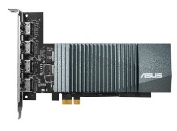 Видеокарта ASUS GeForce GT710-4H SILENT Low Profile (GK208/28nm) (954/5012) GDDR5 2048MB 64-bit