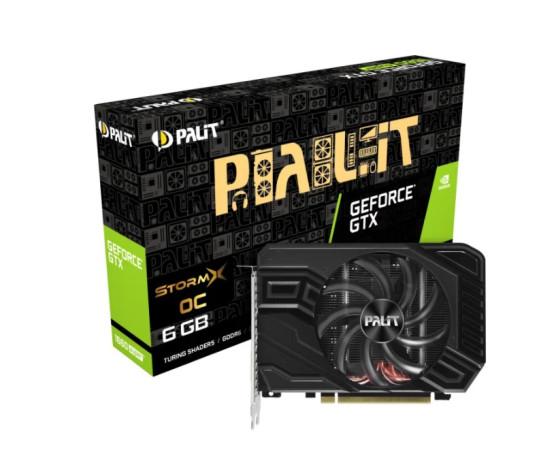 Видеокарта Palit GeForce GTX 1660 SUPER 1530MHz PCI-E 3.0 6144MB 14000MHz 192 bit DVI HDMI DisplayPort HDCP STORMX OC