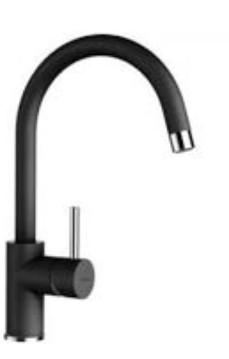 Однорычажный смеситель для кухни (мойки) SCHOCK Plutos 589.000 Onyx