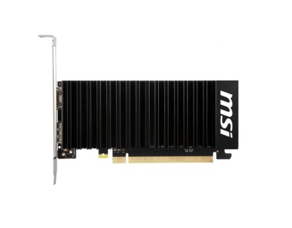 Видеокарта MSI GeForce GT 1030 2GB DDR4 (GT 1030 2GHD4 LP OC) 1430/2100 DP,HDMI пасс.охлаждение низкопрофильная
