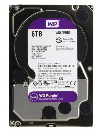 Жесткий диск Western Digital WD Purple 6 TB (WD60PURZ)