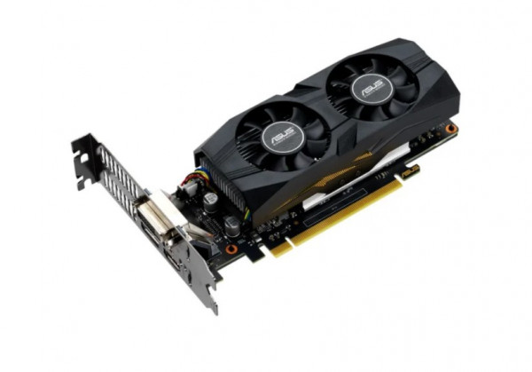 Видеокарта ASUS GeForce GTX 1650 1485MHz PCI-E 3.0 4096MB 8002MHz 128 bit DVI DisplayPort HDMI HDCP OC Low Profile (GTX1650-O4G-LP-BRK)