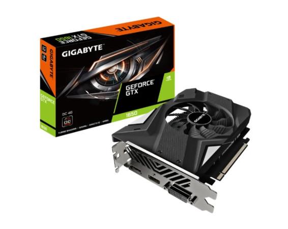 Видеокарта GIGABYTE GeForce GTX 1650 1635MHz PCI-E 3.0 4096MB 12000MHz 128 bit DVI HDMI DisplayPort HDCP OC (GV-N1656OC-4GD)