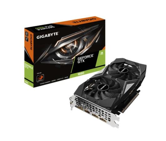 Видеокарта Gigabyte GeForce GTX 1660 6GB GDDR5 (GV-N1660D5-6GD) 1785(1830)/8002Hz 3*DP, HDMI