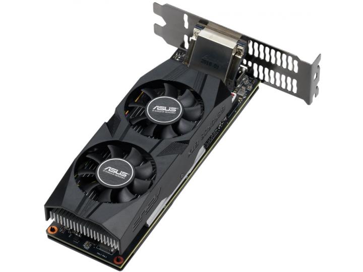 Видеокарта ASUS GeForce GTX 1650 1485MHz PCI-E 3.0 4096MB 8002MHz 128 bit DVI DisplayPort HDMI HDCP OC Low Profile