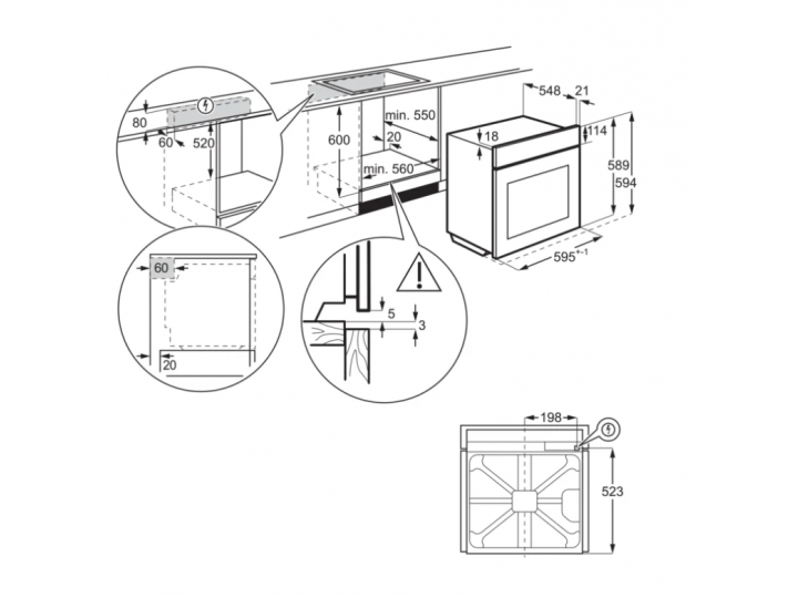 Духовой шкаф Electrolux OEF3H70TK