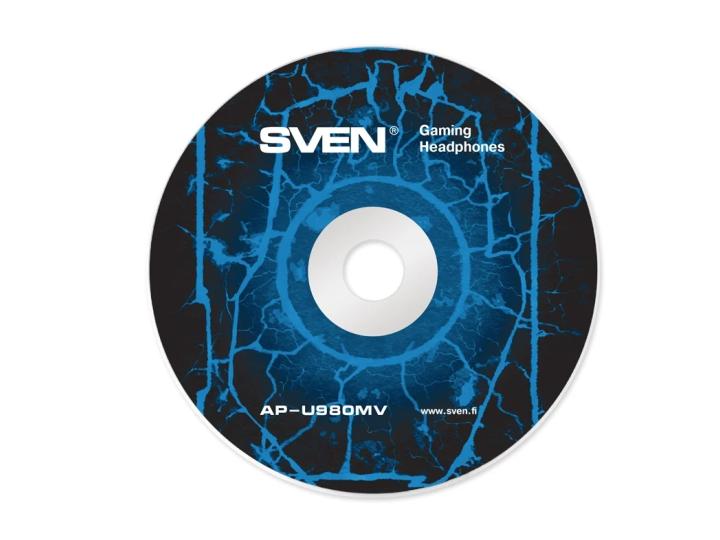 Компьютерная гарнитура SVEN AP-U980MV (регулятор громкости, регулируемое оголовье) 3pin/4pin