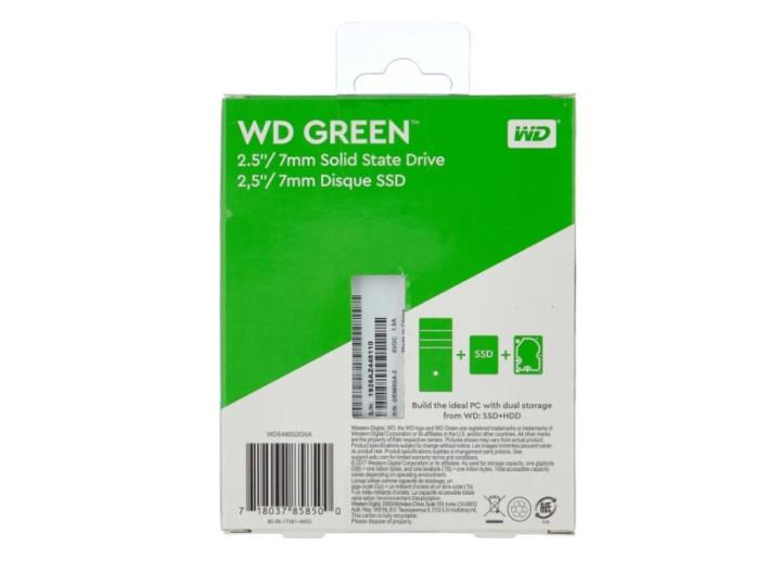 Твердотельный накопитель Western Digital WD Green SATA 480 GB (WDS480G2G0A)