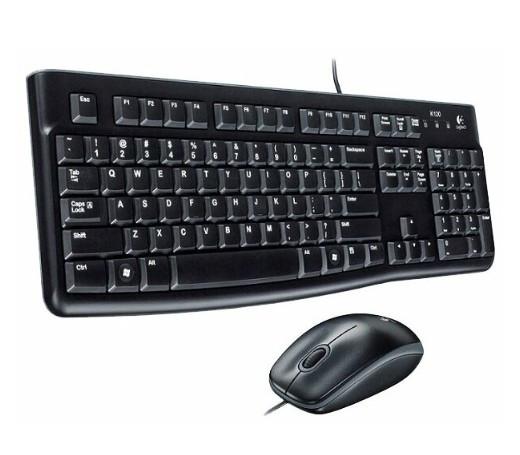 Комплект клавиатура+мышь Logitech MK120 Desktop Black USB (920-002561)