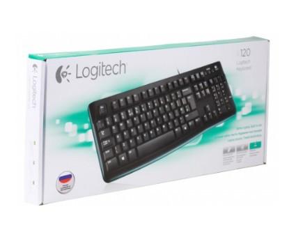 Клавиатура Logitech K120 (USB, waterproof, low profile) OEM 920-002522