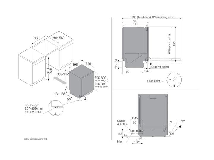 Встраиваемая посудомоечная машина Asko DSD 644 B/1