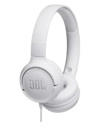 Наушники с микрофоном JBL T500 White