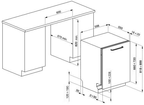 Встраиваемая посудомоечная машина Smeg ST211DS