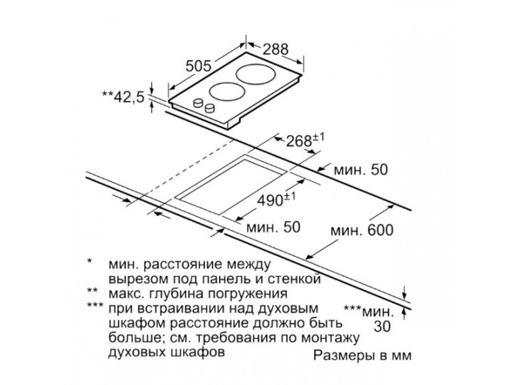 Варочная панель Bosch PKE345CA1 (Domino / Serie2)