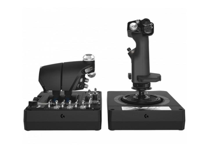 Джойстик Logitech X56 H.O.T.A.S.: джойстик и рычаг управления двигателем (945-000059)