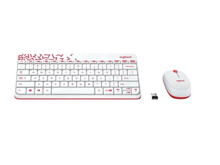 Беспроводной комплект клавиатура+мышь Logitech MK240 Nano WHITE (920-008212)