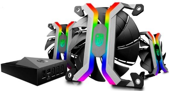 Комплект вентиляторов Deepcool Gamer Storm MF120S 120x120мм, комплект 3 шт