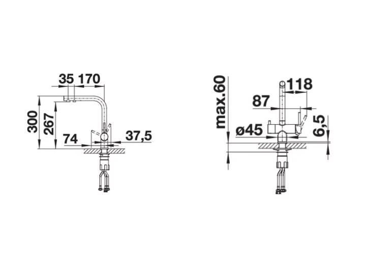 Смеситель Fontas II (хром) однорычажный хром
