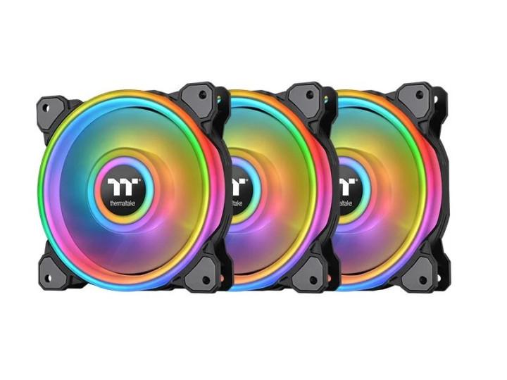 Комплект кулеров для корпуса Thermaltake Riing Quad 12 RGB Radiator Fan TT Premium Edition 3 Pack