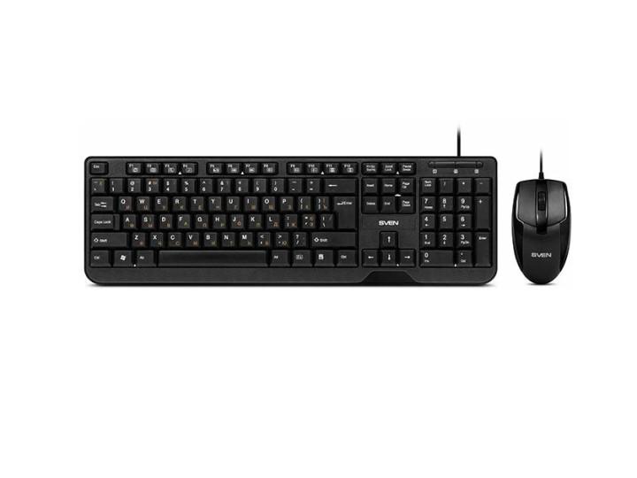 Комплект клавиатура+мышь SVEN KB-S330C black