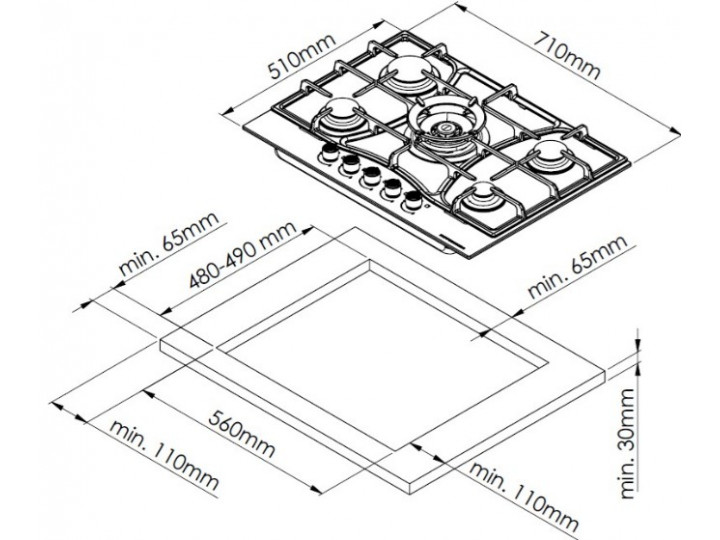 Варочная панель Kuppersberg FS73 X