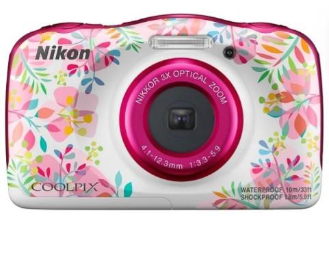 Цифровая камера NIKON Coolpix W150 + рюкзак /flower / 14.17 МП / 3x / IPX8 / Wi-Fi / (VQA113K001)