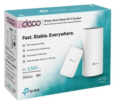 Домашняя Mesh Wi-Fi система TP-LINK Deco E3(2-pack), AC1200