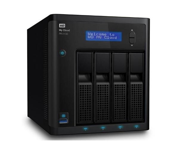 Сетевой накопитель WD My Cloud Pro PR4100 8TB (WDBNFA0080KBK)