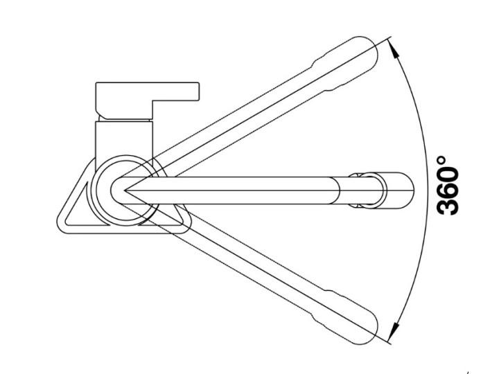 Смеситель Blanco Viu-S хром, 4 съемных шланга в комплекте