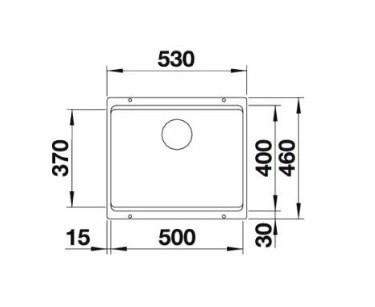 Мойка Blanco Etagon 500-U Silgranit жемчужный с отв.арм. InFino®
