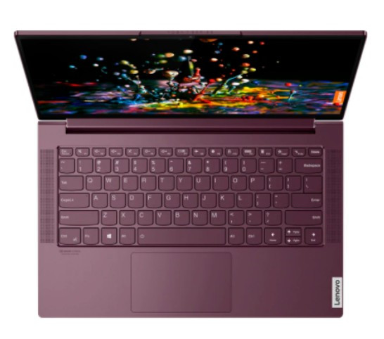 "Ноутбук Lenovo 14"" FHD (Yoga Slim 7 14ARE05) - R5-4600U орхидея"