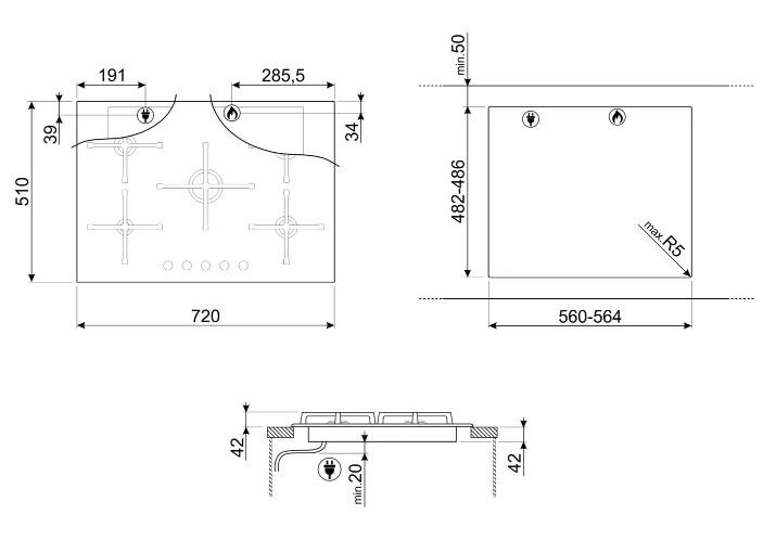 Варочная панель Smeg PV175N2