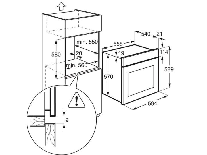Духовой шкаф Electrolux EZB 53430AW