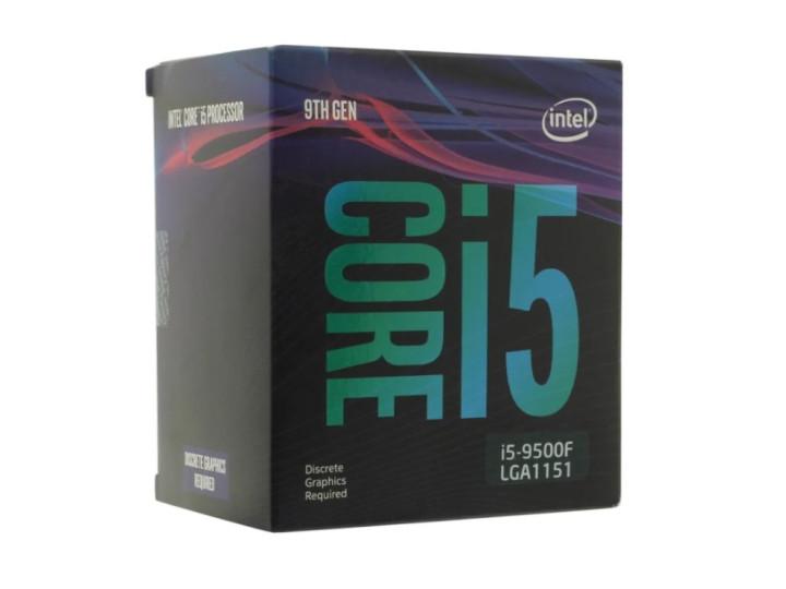 Процессор LGA1151v2 Intel Core i5-9500F кулера нет