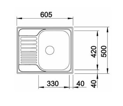 Мойка Blanco Tipo 45S Mini нержавеющая сталь матовая