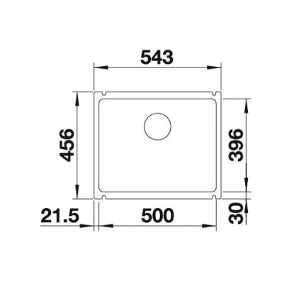 Мойка Blanco Subline 500-U Silgranit PuraDur II антрацит InFino®