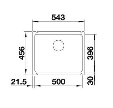 Мойка Blanco Subline 500-U Silgranit PuraDur II алюметаллик InFino®