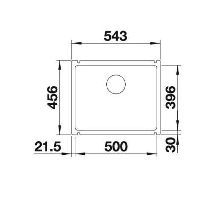 Мойка Blanco Subline 500-U Silgranit PuraDur II жасмин InFino®