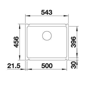 Мойка Blanco Subline 500-U Silgranit PuraDur II жемчужный InFino®